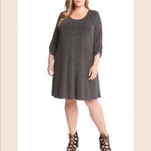 SOLD Karen Kane Plus Taylor Metallic A-Line Dress